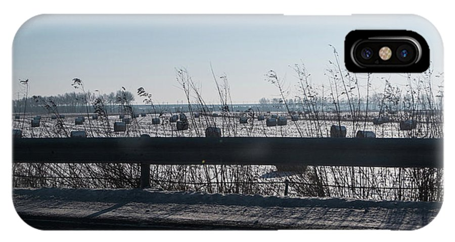 Snow IPhone X Case featuring the photograph Fields Of Snow by Lauren Bucke