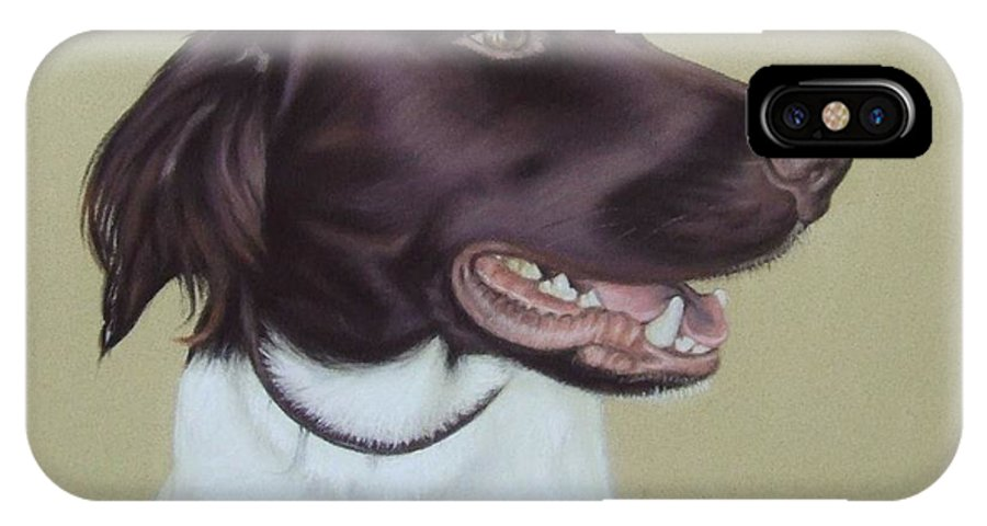 Dog IPhone X / XS Case featuring the pastel Fiete by Nicole Zeug