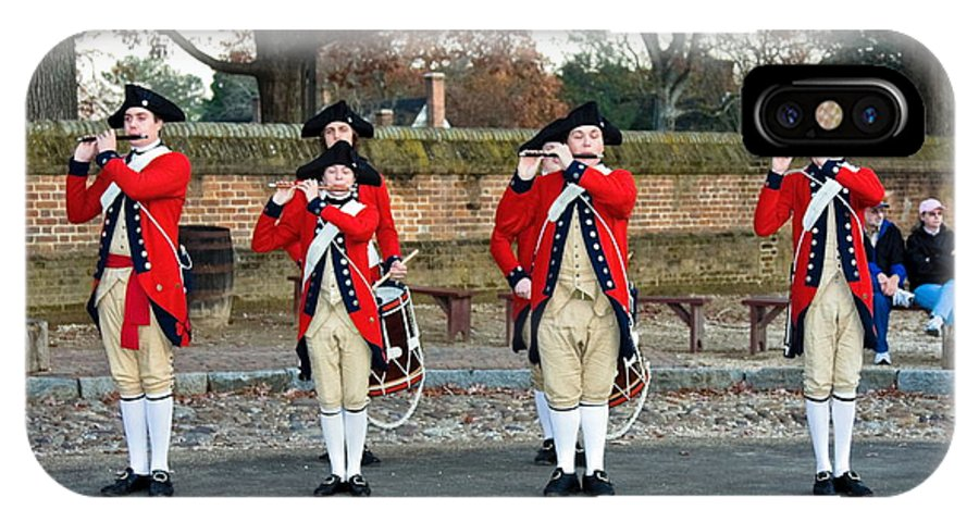 Fifes And Drums IPhone X Case featuring the photograph Fifes And Drums by Sally Weigand
