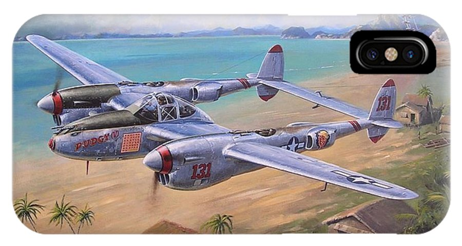 Aviation Art IPhone X Case featuring the painting Fightin' Red Devils by Colin Parker