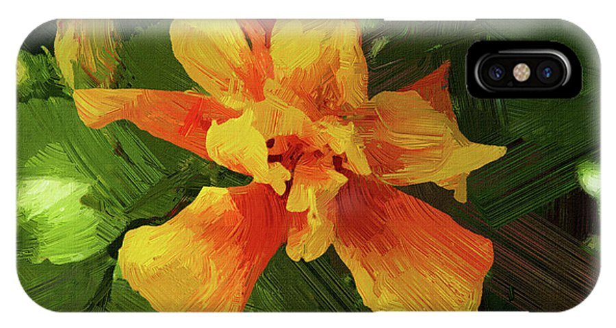 Hibiscus IPhone X Case featuring the photograph Fijian Hibiscus Abstract In Del Mar 1 by Kenneth Roberts