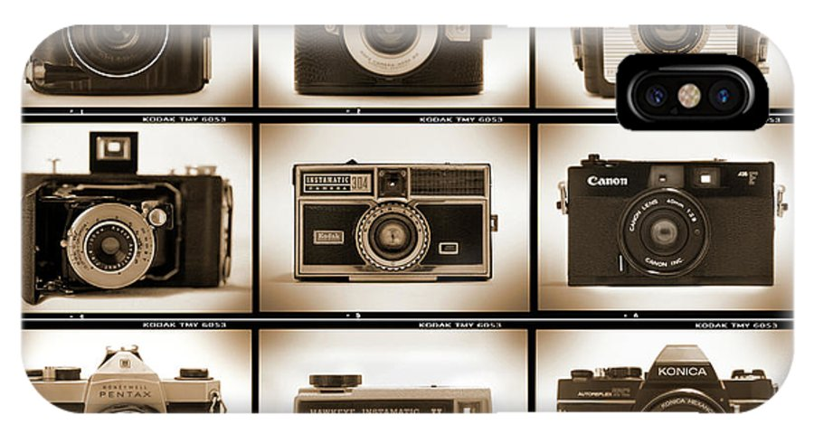 Vintage Cameras IPhone X / XS Case featuring the photograph Film Camera Proofs 1 by Mike McGlothlen
