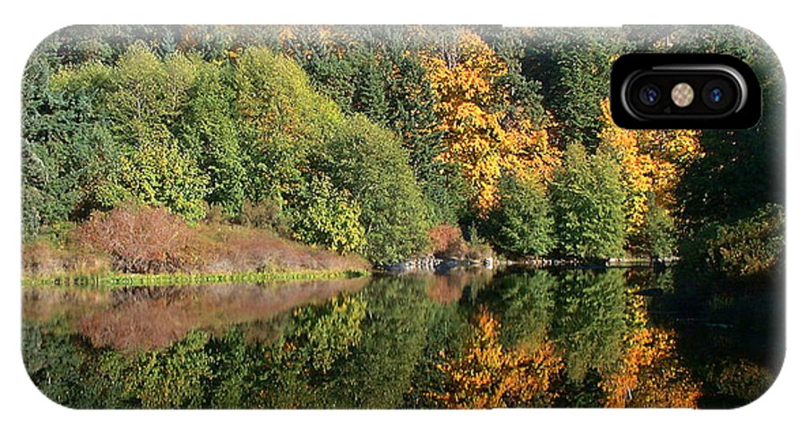 Fall IPhone Case featuring the photograph Final Reflection by Larry Keahey