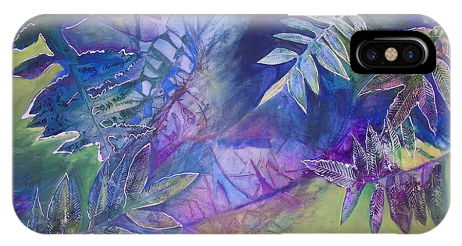 Leaves IPhone X Case featuring the painting Finding The Self by Vijay Sharon Govender
