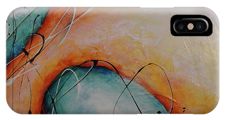 Art IPhone X Case featuring the painting Finding You by Bradley Carter