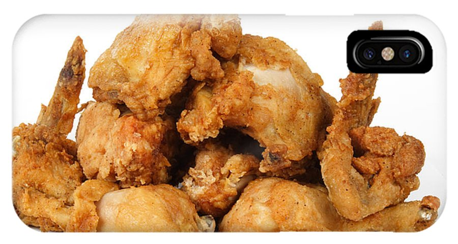 Food IPhone X Case featuring the photograph Fine Art Fried Chicken Food Photography by James BO Insogna
