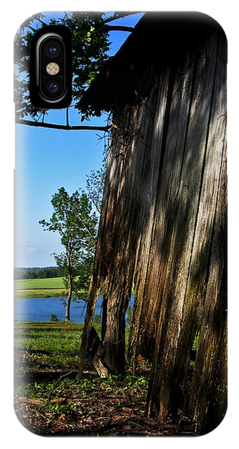 Landscape IPhone X Case featuring the photograph Fine Woodwork by Rachel Christine Nowicki