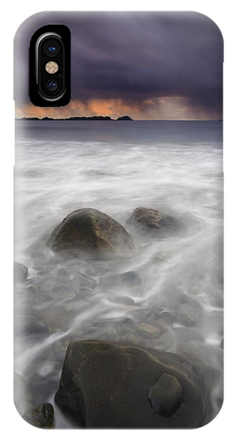 Storm IPhone X Case featuring the photograph Fingers Of The Storm by Mike Dawson