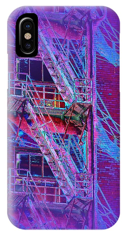 Fire Escape IPhone X Case featuring the photograph Fire Escape 4 by Tim Allen