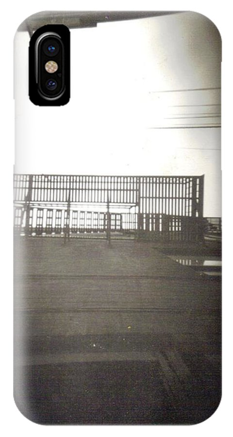 Black And White Photograph IPhone X Case featuring the photograph Fire Escape by Thomas Valentine