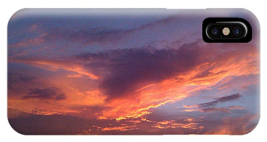 Sky IPhone X Case featuring the photograph Fire In The Sky by Laura Martin