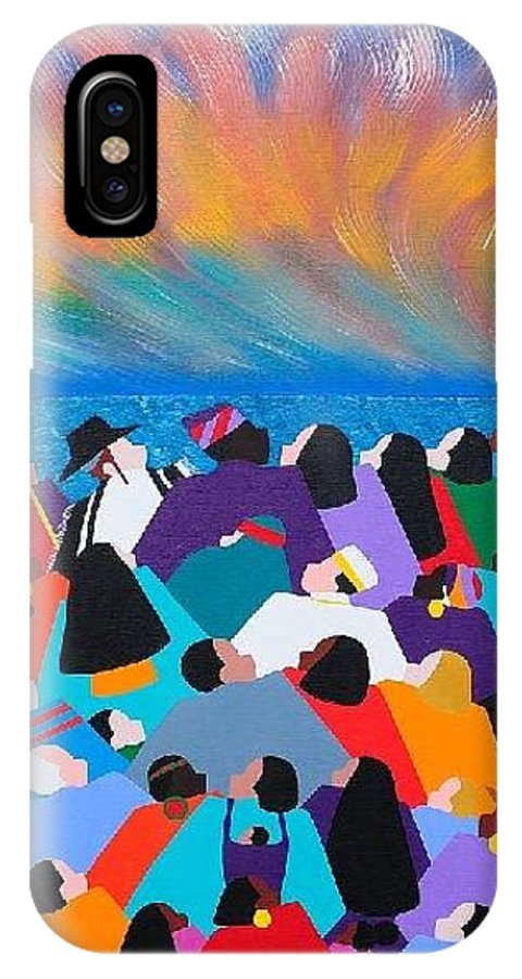 Obama IPhone Case featuring the painting Fire Rainbow Obama by Synthia SAINT JAMES