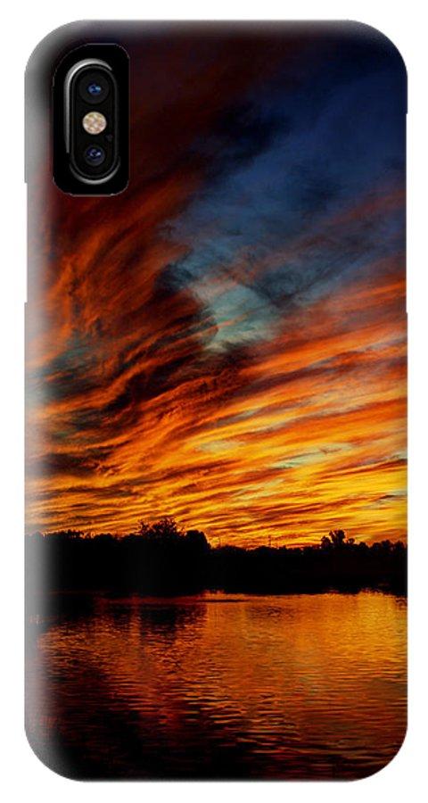 Sunset IPhone X / XS Case featuring the photograph Fire Sky by Saija Lehtonen