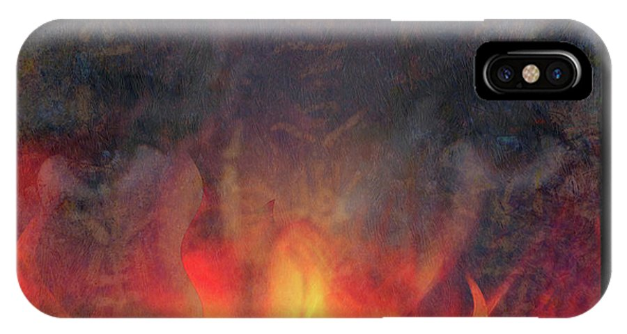 Fire IPhone X Case featuring the photograph Fire Soul by Ed Hall