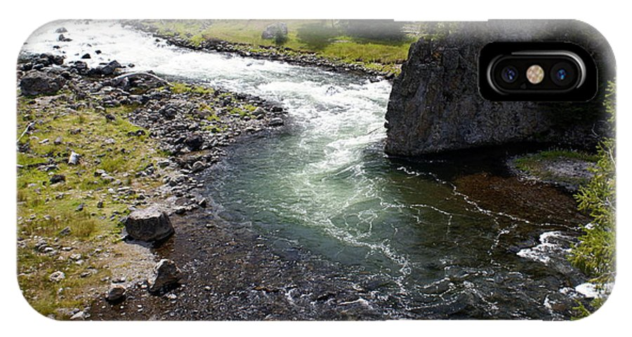 Yellowstone National Park. Firehole River IPhone X Case featuring the photograph Firehole Bend by Marty Koch