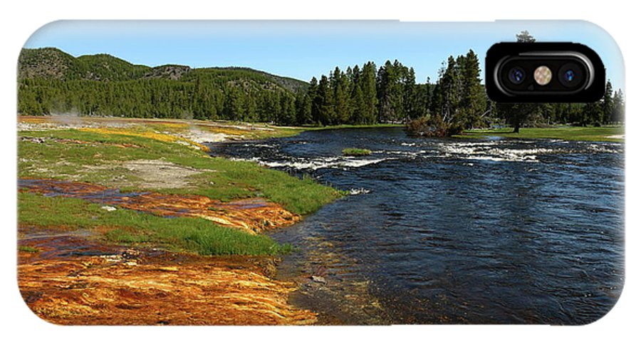 Park IPhone X Case featuring the photograph Firehole River Colors by Christiane Schulze Art And Photography