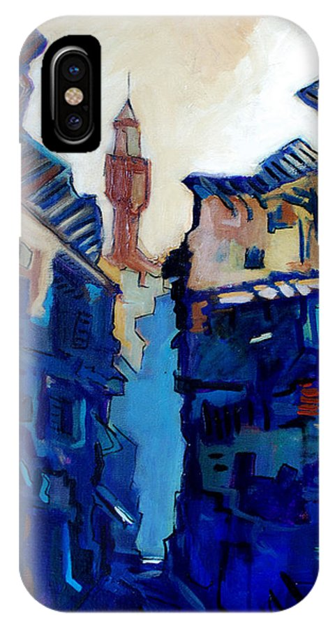 Florence IPhone Case featuring the painting Firenze Street Study by Kurt Hausmann