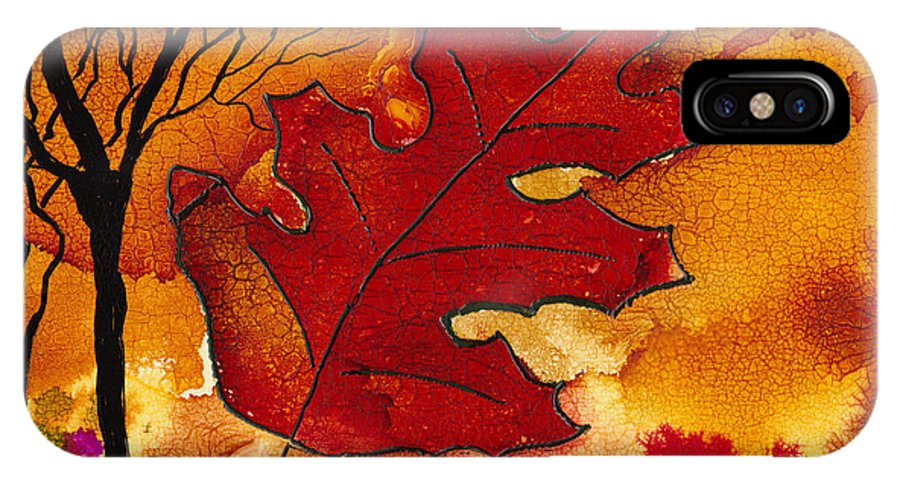 Fire IPhone X Case featuring the painting Firestorm by Susan Kubes