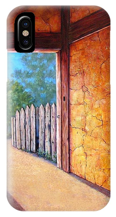 Bright IPhone X / XS Case featuring the painting Firewall by Tanja Ware