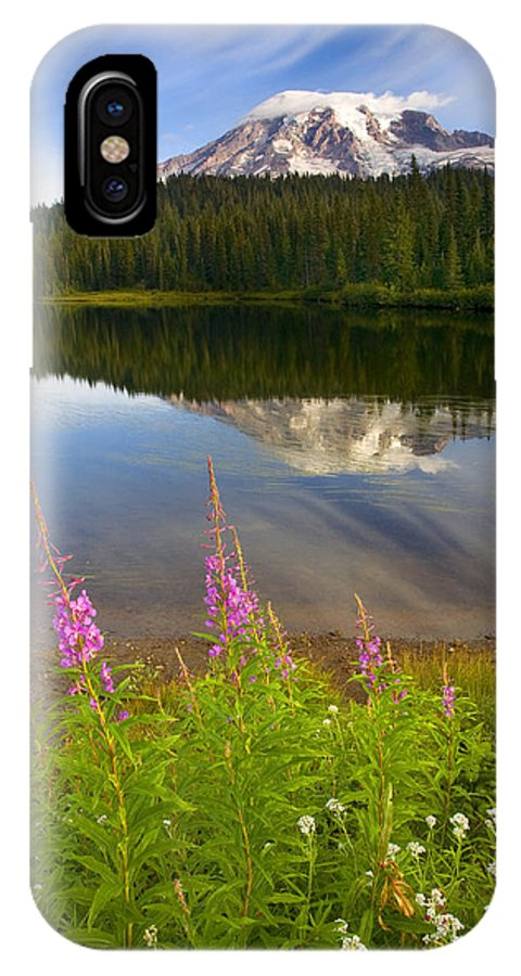 Fireweed IPhone Case featuring the photograph Fireweed Reflections by Mike Dawson