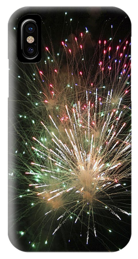 Fireworks IPhone X Case featuring the photograph Fireworks by Margie Wildblood