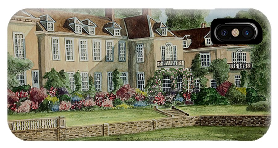 England IPhone X / XS Case featuring the painting Firle Place England by Charlotte Blanchard