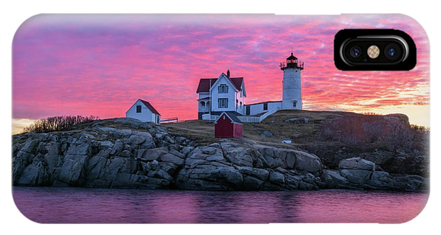 Cape Neddick IPhone X Case featuring the photograph First Blush by Michael Blanchette