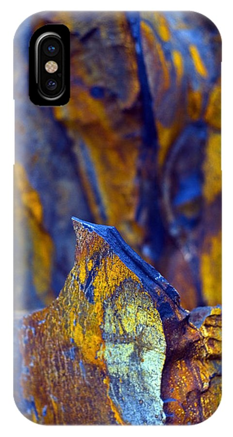 Texture IPhone X Case featuring the photograph First Cut Is The Deepest by Skip Hunt