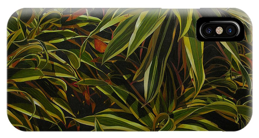 Leaves IPhone Case featuring the painting First In Cabot by Thu Nguyen