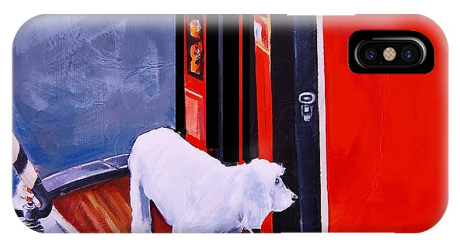 Dog IPhone X Case featuring the painting First Mate by Jean Cormier