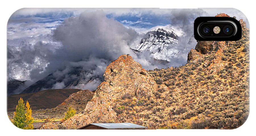 Snowy Mountains IPhone X Case featuring the photograph First Snow On The Hills by Grant Groberg