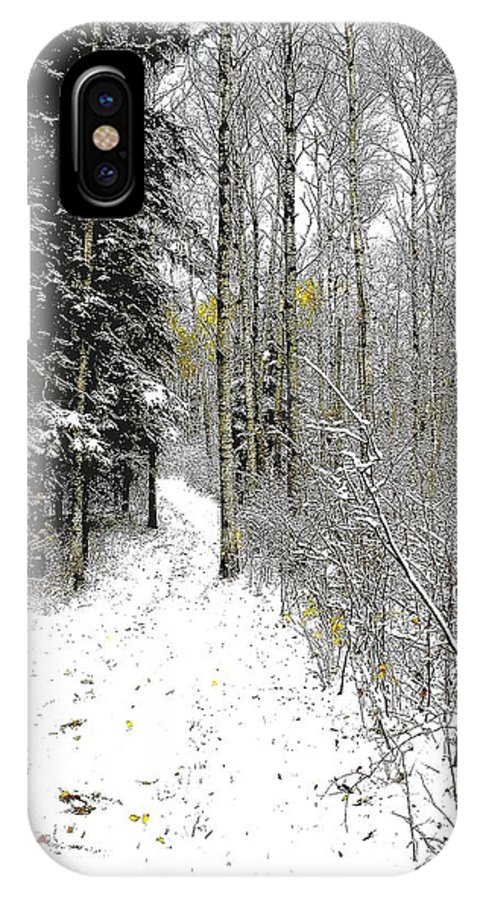 Winter IPhone X Case featuring the photograph First Snowfall by Nelson Strong