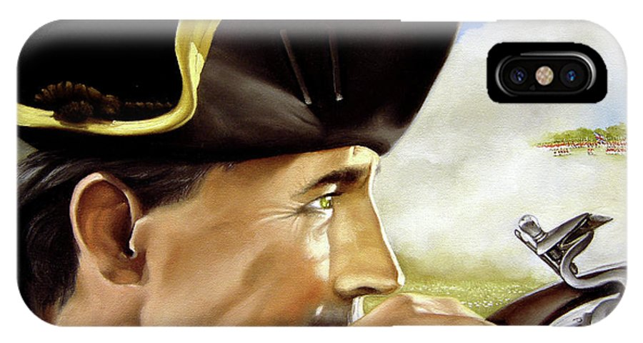 Continental IPhone Case featuring the painting First To Fight by Marc Stewart