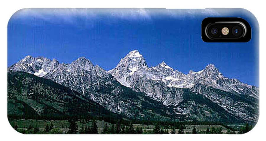 Mountains IPhone X Case featuring the photograph First View Of Tetons by Kathy McClure