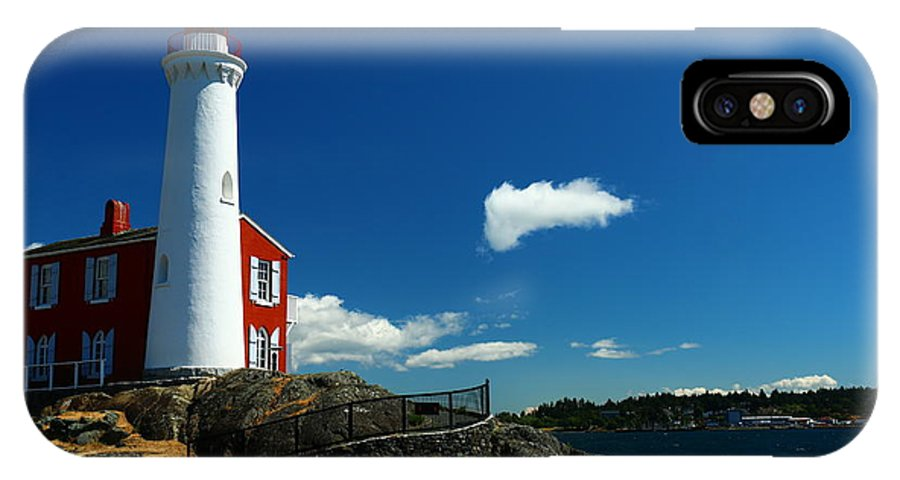 Canada IPhone X / XS Case featuring the photograph Fisgard Lighthouse by Christiane Schulze Art And Photography