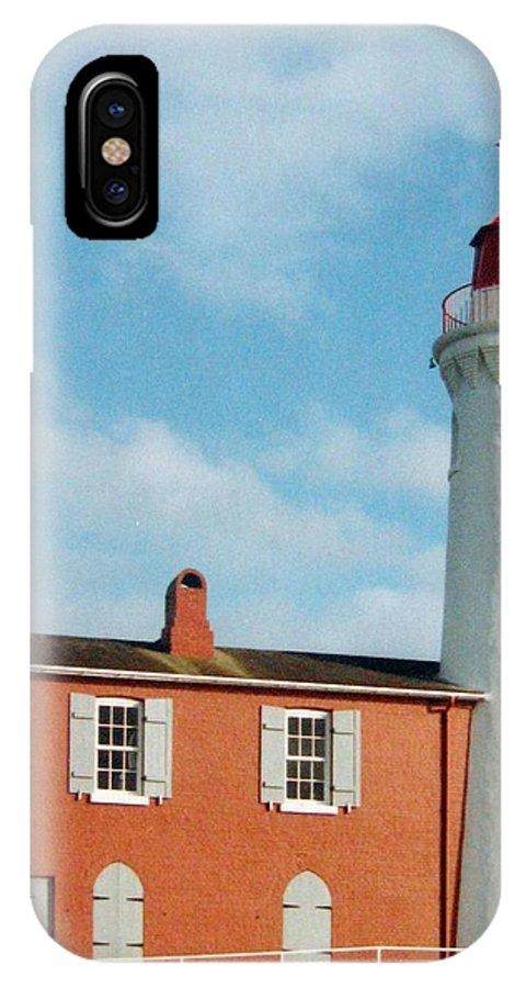 Fisgard Lighthouse IPhone X Case featuring the photograph Fisgard Lighthouse by Will Borden