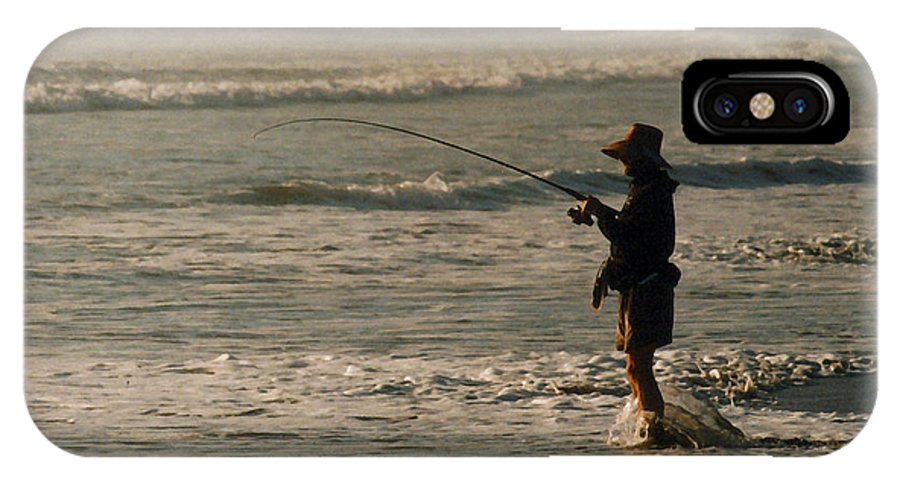 Fisherman IPhone X Case featuring the photograph Fisherman by Steve Karol
