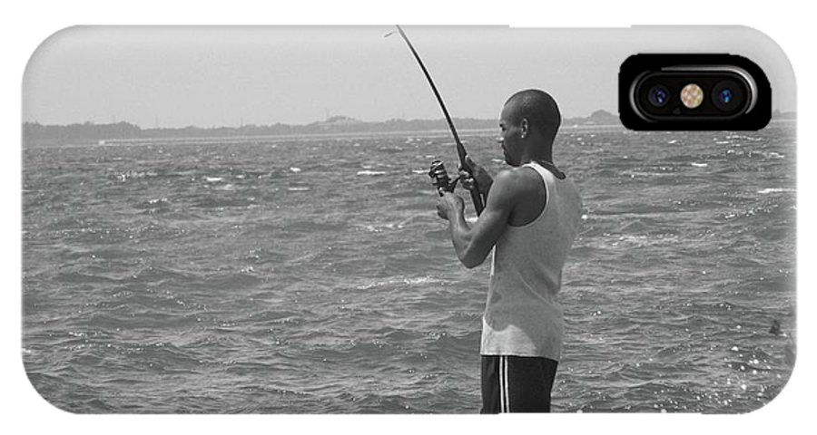 Fishing IPhone X Case featuring the photograph Fishful Thinkin....... by WaLdEmAr BoRrErO