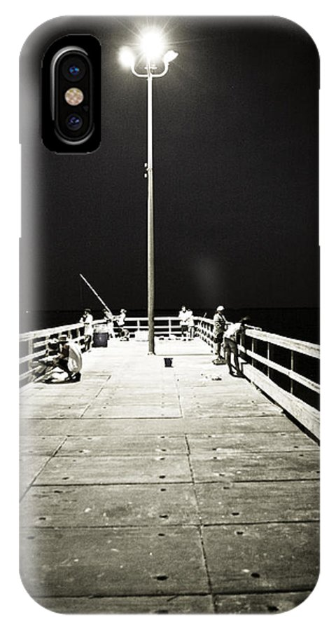 Americana IPhone X Case featuring the photograph Fishing At Night by Marilyn Hunt