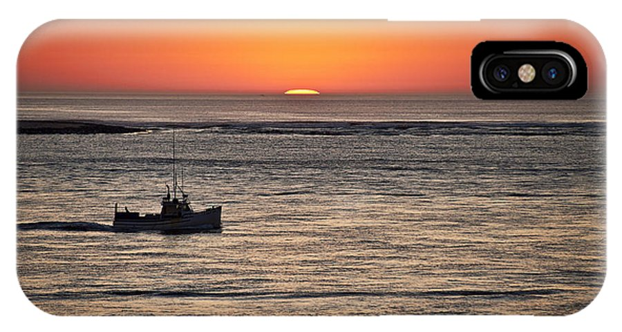 Cape Cod IPhone X Case featuring the photograph Fishing Boat At Sunrise. by John Greim