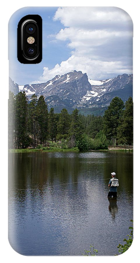 Fishing IPhone X Case featuring the photograph Fishing In Colorado by Heather Coen