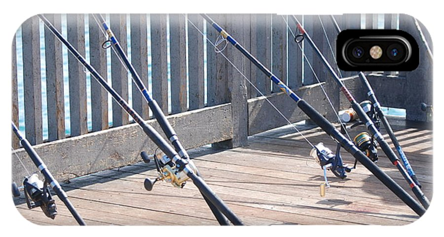 Pier IPhone X / XS Case featuring the photograph Fishing Rods by Rob Hans