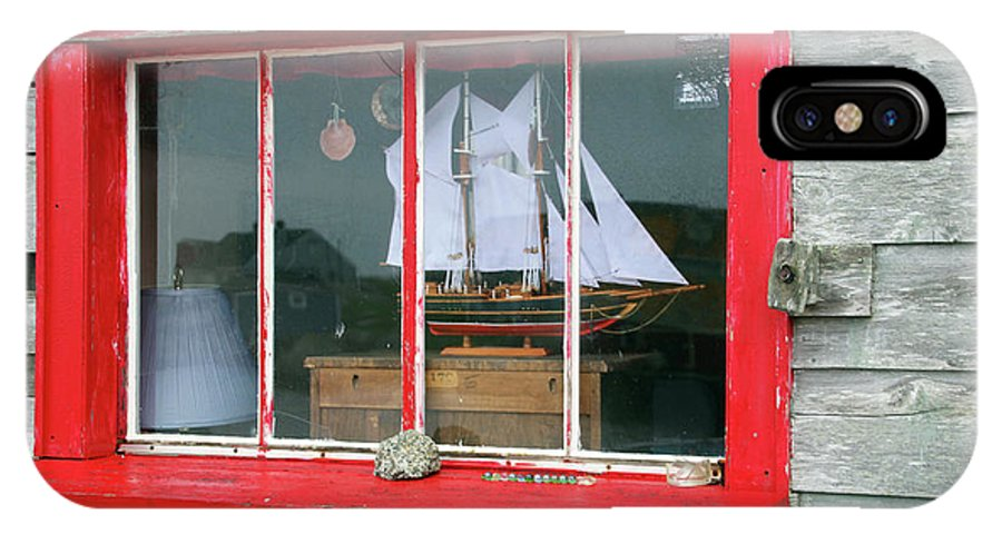 Atlantic Provinces IPhone X Case featuring the photograph Fishing Shack Window 5998 by Jack Schultz