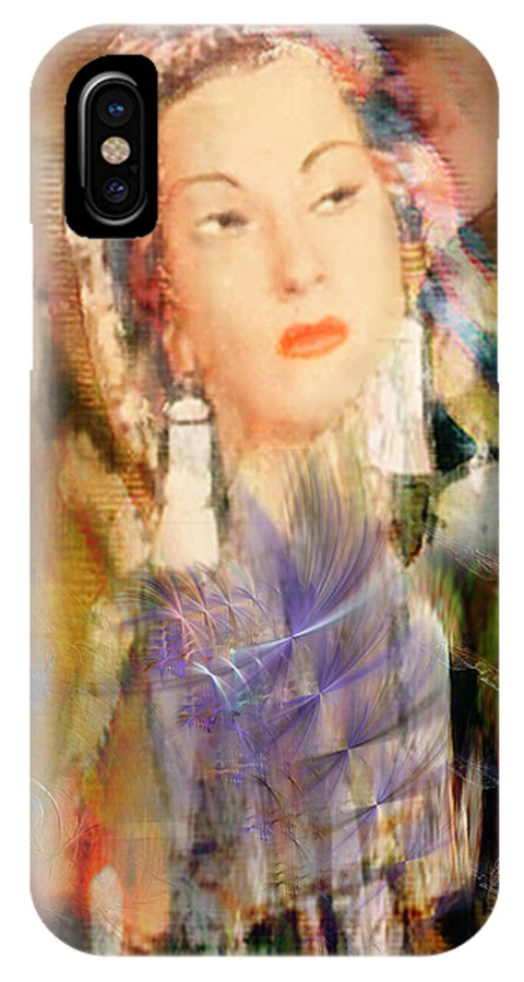 IPhone X Case featuring the digital art Five Octaves - Tribute To Yma Sumac by John Beck