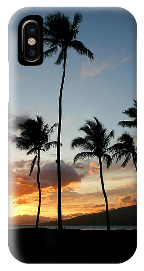 Maui IPhone X Case featuring the photograph Five Palms Maui Hawaii by Pierre Leclerc Photography