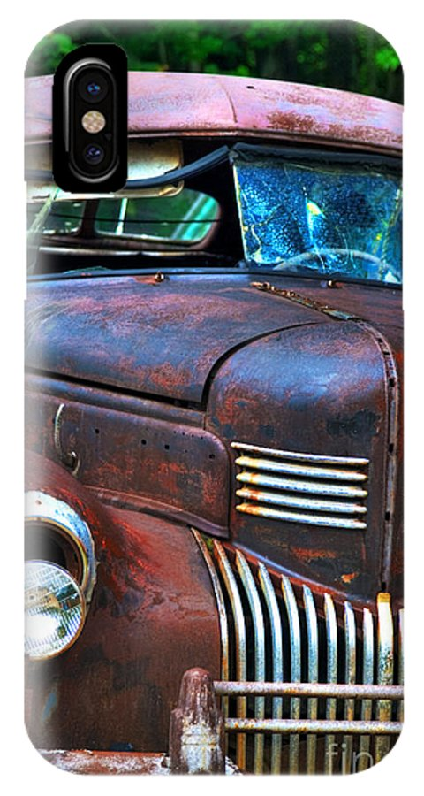 Car IPhone X Case featuring the photograph Fixer Upper by Alana Ranney
