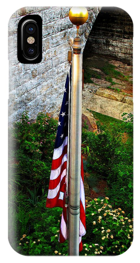 America IPhone X Case featuring the photograph Flag Day by Joan Minchak
