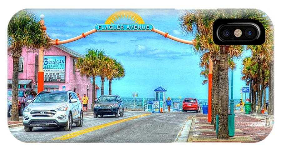 Beach IPhone X Case featuring the photograph Flagler Avenue by Debbi Granruth
