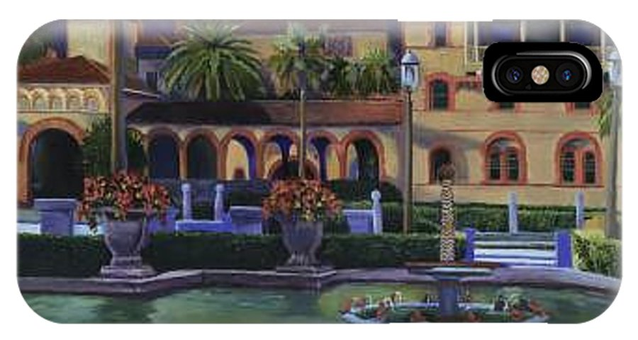St. Augustine\'s Flagler College Campus IPhone X Case featuring the painting Flagler College II by Christine Cousart