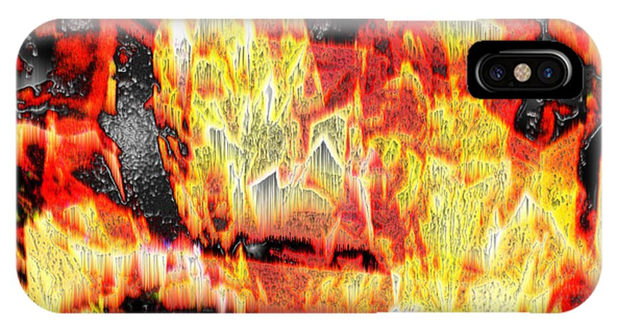 Abstract IPhone X Case featuring the photograph Flame Gems by Seth Weaver